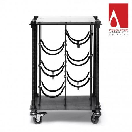 Industrial CAVA | Wine Rack Side Table
