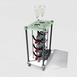 Retro Romantic CAVA | Wine Rack Side Table