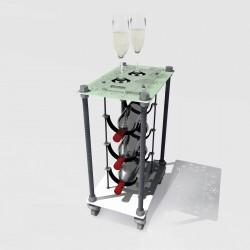 Retro Romantic CAVA | Wine Rack Side Table