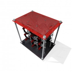 Prohibition Red CAVA | Wine Rack Side Table