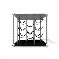 Black Velvet CAVA | Wine Rack Side Table