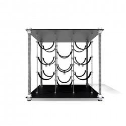 Black Velvet CAVA | Wine Rack Side Table