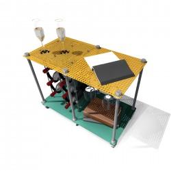 Passion Fruit CAVA | Wine Rack Side Table