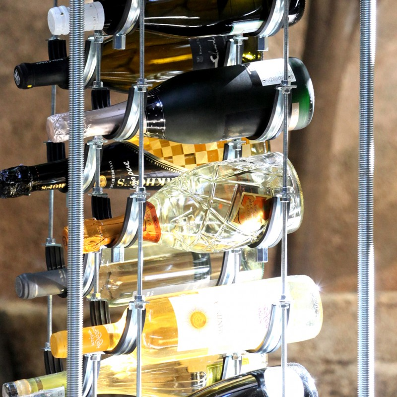 Black chandelier cava wine rack mini bar the cava project black chandelier cava wine rack mini bar aloadofball Images