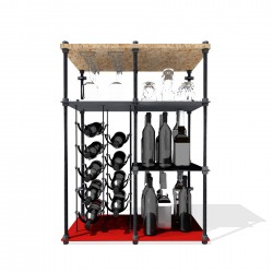 Night Shift CAVA | Wine Rack Mini Bar