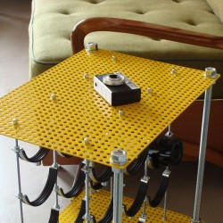 Yellow Mellow CAVA | Wine Rack Side Table