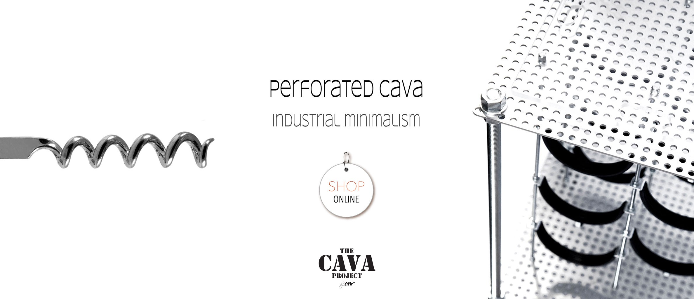 Perforated CAVA | Wine Rack Side Table